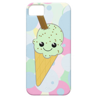 Cute Kawaii Ice Cream Cone Mint Choc Chip Barely There iPhone 5 Case