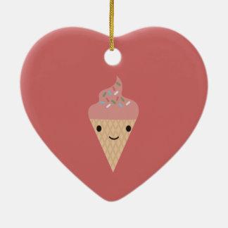 Cute Kawaii Ice Cream Christmas Ornaments