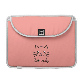 Cute Kawaii Kitten Cat Face Cat Lover Minimalist Sleeve For MacBook Pro