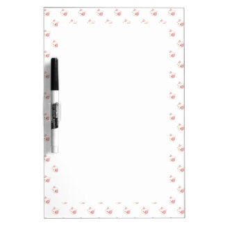"Cute Kawaii Kitty Cat Face ""Polka Dot"" Pattern Dry Erase Board"