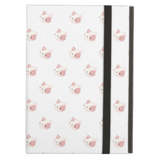 "Cute Kawaii Kitty Cat Face ""Polka Dot"" Pattern iPad Air Case"