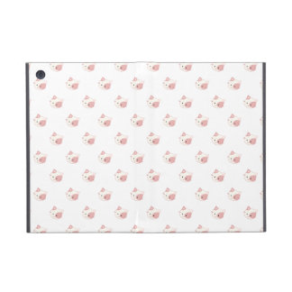 "Cute Kawaii Kitty Cat Face ""Polka Dot"" Pattern iPad Mini Case"