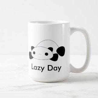 Cute kawaii lazy day panda mug