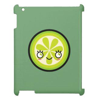 Cute Kawaii Lime Slice iPad Case
