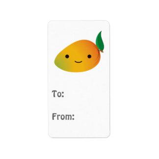 Cute Kawaii Mango Address Label