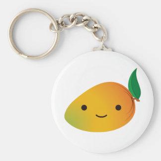 Cute Kawaii Mango Basic Round Button Key Ring