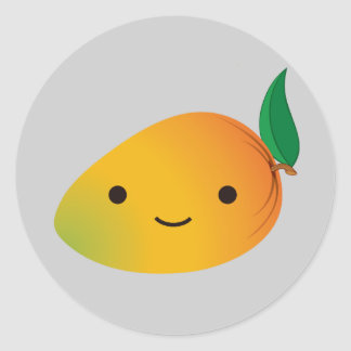 Cute Kawaii Mango Classic Round Sticker