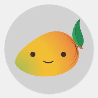 Cute Kawaii Mango Round Sticker