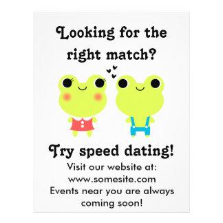 Cute Kawaii Matchmaking Frog Couple Flyer