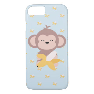 Cute Kawaii Monkey with Banana iPhone 7 Case