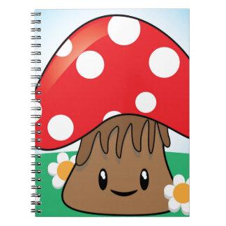Cute Kawaii Mushroom Spiral Note Book