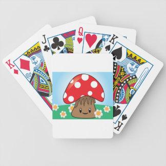 Cute Kawaii Mushroom Playing Cards