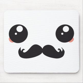 Cute Kawaii Mustache Mousepads