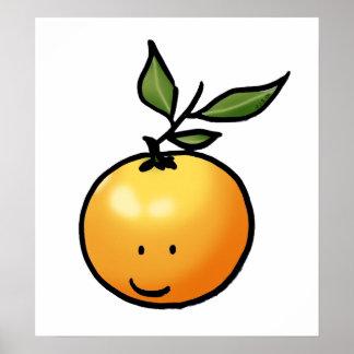 Cute kawaii orange poster