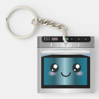 Cute Kawaii Oven - Chef & Baker Gifts Double-Sided Square Acrylic Key Ring