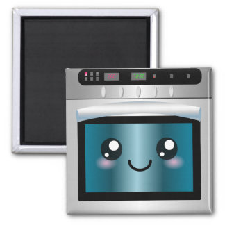 Cute Kawaii Oven - Chef & Baker Gifts Square Magnet
