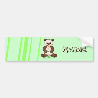Cute Kawaii Panda bumper sticker