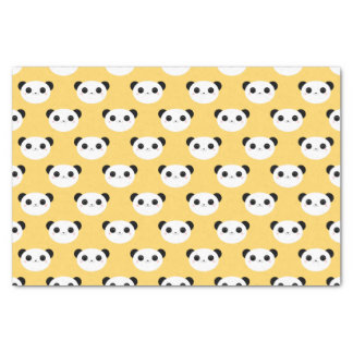 Cute Kawaii Panda Face Pattern Tissue Paper