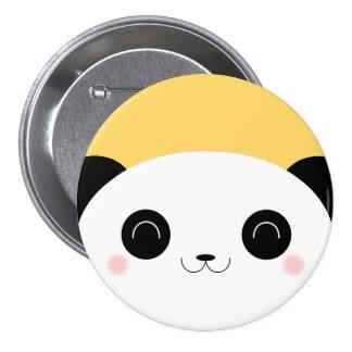 Cute Kawaii Peekaboo Blushing Panda Pin Badge
