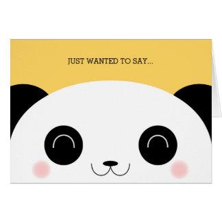 Cute Kawaii Peekaboo Panda Face Thank You Card