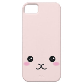Cute, kawaii, pink bunny design iPhone 5 case