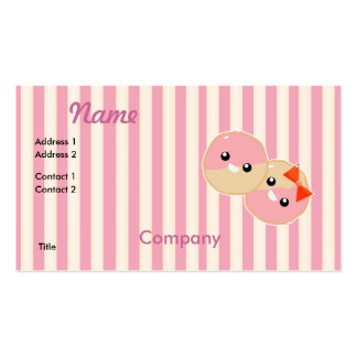 Cute Kawaii Pink Frosted Cookies Business Card Templates