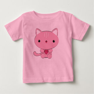 Cute kawaii Pink Kitty with Heart Infant T-shirt