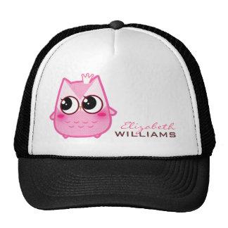 Cute kawaii pink owl - Personalized Trucker Hats