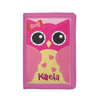Cute Kawaii Pink Owl Wallet for Girls