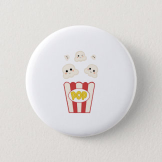 Cute Kawaii Popcorn 6 Cm Round Badge