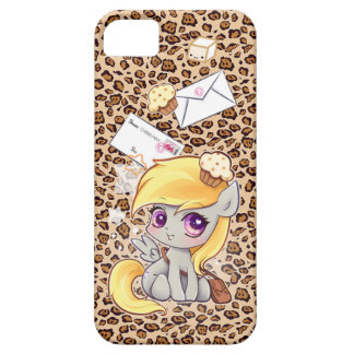 Cute kawaii postman pony on leopard print case for the iPhone 5