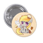 Cute kawaii postman pony with letters and cupcakes