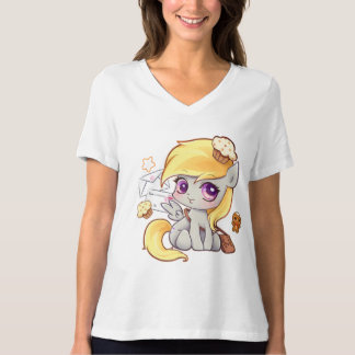 Cute kawaii postman pony with letters and cupcakes T-Shirt