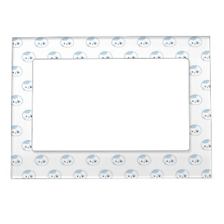 """Cute Kawaii Puppy Dog Face """"Polka Dot"""" Pattern Magnetic Picture Frame"""