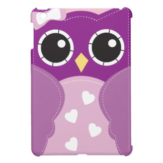 Cute Kawaii Purple Owl Cover For The iPad Mini