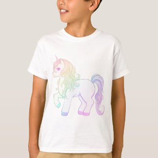 Cute kawaii rainbow colored unicorn pony T-Shirt
