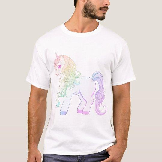 Cute kawaii rainbow coloured unicorn pony T-Shirt