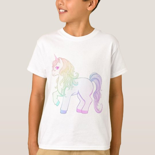 Cute kawaii rainbow coloured unicorn pony T-Shirt