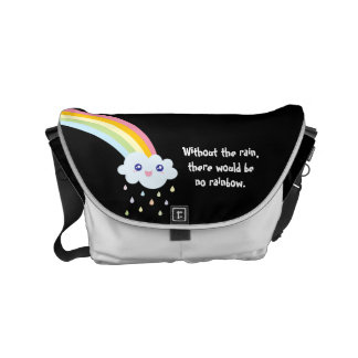 Cute Kawaii Rainbow Famous Inspirational Quote Commuter Bags