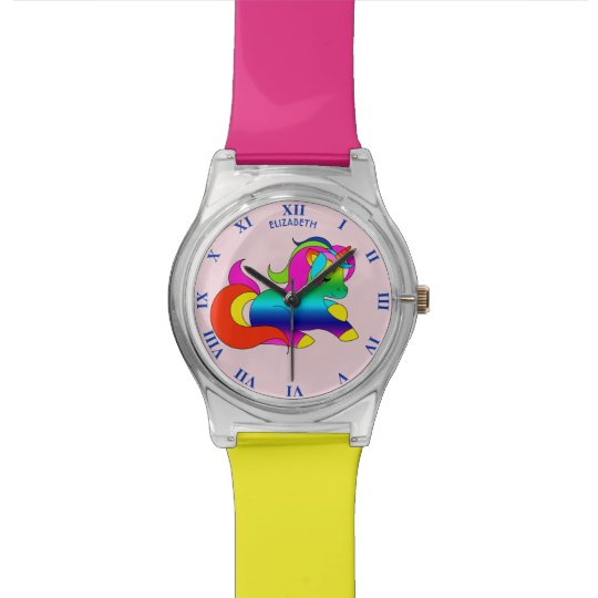 Cute Kawaii Rainbow Unicorn Cartoon Style Watch