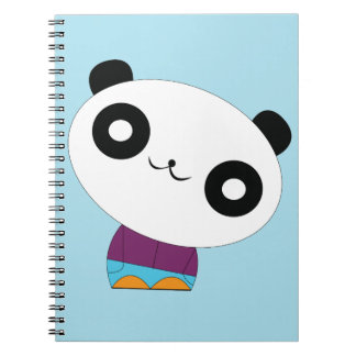 Cute kawaii real chill panda spiral notebook