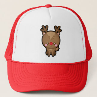Cute Kawaii Red Nosed Reindeer Christmas Hat