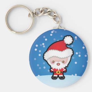 Cute Kawaii Santa Claus Christmas Keyring Keychain