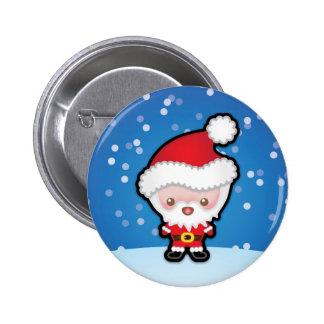 Cute Kawaii Santa Claus Christmas Pin Badge