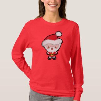 Cute Kawaii Santa Claus Christmas Womens Jumper T-Shirt
