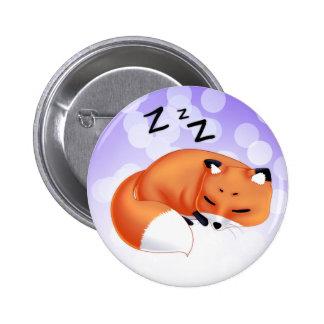Cute Kawaii Sleeping cartoon fox 6 Cm Round Badge