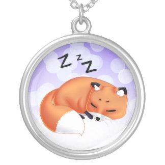 Cute Kawaii Sleeping cartoon fox Custom Jewelry