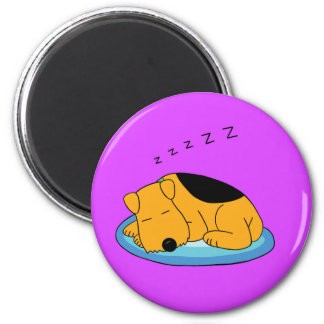Cute Kawaii Snoring Airedale Terrier Dog Magnet