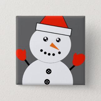 Cute Kawaii Snowman 15 Cm Square Badge