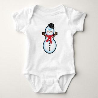 Cute Kawaii Snowman Christmas Baby Grow Baby Bodysuit